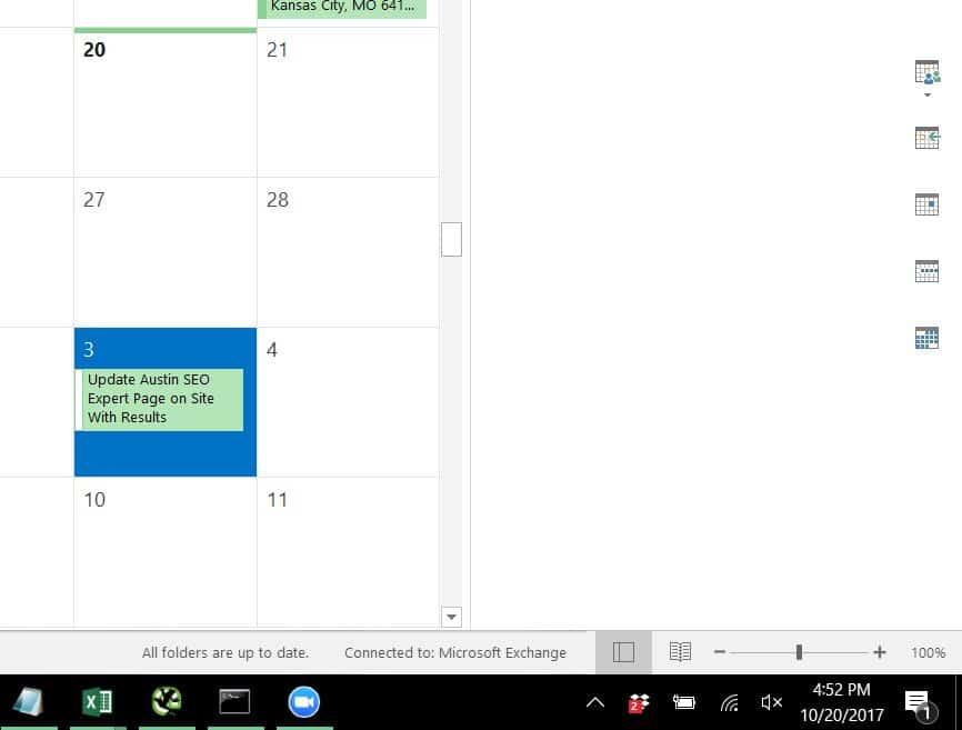 calendar set to check austin seo expert rankings